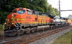 BNSF 4435, 9555, UP 7152 on K040